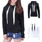 Womens Plus Size Hoodie Pull Over Drawstring Long Sleeve Hooded Sweatshirt