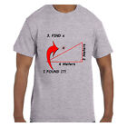 Funny Humor Tshirt Math Find X I Found It