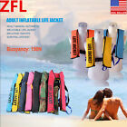 Adult Manual Inflatable Life Jacket VestBoating150N Floatation Sailing Swimming