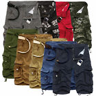 Mens Loose Casual Military Army Cargo Camo Combat Work Shorts Pants Trousers Hot