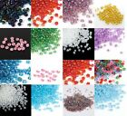 50g Size 11/0 2mm Glass Seed Beads Various Colours AB Silver Lined Pearl XA