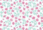 A4 Edible printed sheet Wafer Card Icing cake  ZZ23 small pink rose shabby chic