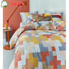300TC Cotton Percale Maipu Coral Quilt Duvet Cover Set - QUEEN KING Super King