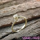 Round Diamond Engagement Ring Size 5.5 14k Solid Gold 1.33 CT SI I-J Enhanced