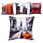 Retro Vintage Cushion Cover - Printed New York & London Cushion Case