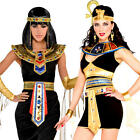 Egyptian Queen Cleopatra Ladies Fancy Dress Ancient Empress Womens Adult Costume