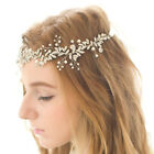 Womens Golden/Silver Chic Floral Rhinestone Headband Hair Band Wedding Party