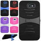 For Samsung Galaxy J7 PRIME Hard Gel Rubber KICKSTAND Case Phone Cover