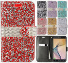 For Samsung Galaxy J7 PRIME Premium Bling Diamond Wallet Case Flip Pouch