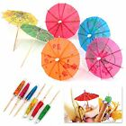 30pc Mixed Paper Cocktail Umbrellas Parasol Tropical Party Drinks Accessory