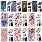 For LG G6 Relief Painted Premium Varnish Leather Card Pockets Luxury Case Cover