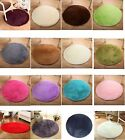 "15.7"" Solid Small Round Anti Slip Chair Pad Cushions Soft Rug Door Mats Carpet"