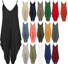 Womens Lagenlook Strappy Baggy Harem Jumpsuit Dress Ladies Top Playsuit 10-20