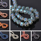 10pcs 7X7.5mm Faceted Crystal Glass Loose Spacer Beads DIY Findings Charms