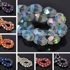 10pcs 13X9.5mm Oval Faceted Crystal Glass Charms Loose Spacer Beads DIY Findings