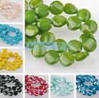 5pcs 14mm Twist Coin Faceted Glass Loose Charms Spacer Beads DIY Findings