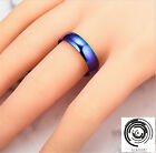 Fashion Ring Finger Rings Size 6-13 Unisex Stainless Steel Women Multi-Color