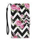 For Samsung Galaxy Note 2 Leather Wallet Flip Case Credit Card Cover Pink Roses