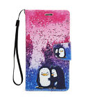 For Samsung Galaxy Note 2 Leather Wallet Flip Case Credit Card Cover Penguins