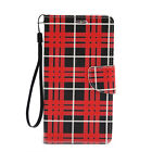 For Samsung Galaxy Note 2 Leather Wallet Flip Case Credit Card Cover Cool Plaid