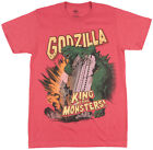 Godzilla King of the Monsters Regular Fit T-Shirt Movie Film Tee Top Heather Red