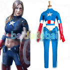 Steve Rogers Captain America USO Cosplay Costume Outfit Female Version