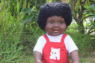 "LARGE 18"" AMERICIAN BLACK AFRICAN DOLL BABY BOYS AKIA DOLL VINYL 46CM AFRO DOLL"