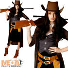 Gunslinger Ladies Fancy Dress Wild West Cowgirl Western Adults Costume Outfit