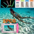 2X Waterproof Bag Pouch Underwater Panegyrical Cover Smartphone iPhone Galaxy Phone