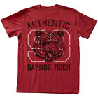 Saved By The Bell 80's Comedy Sitcom Bayside Tiger Authentic Red Adult T-Shirt image