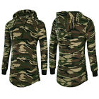 Men's Casual Camouflage Long Sleeve Hooded Sweatshirt Print Outwear Tops T-shirt