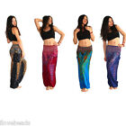 Bohemian Women Loose Pants Thailand Peacock Summer Casual Long Cotton Trousers