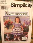 Simplicity 7543 Girls Dress & Doll Clothes MANY SIZES OOP VINTAGE