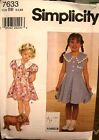 Simplicity 7633 Girls Dress Pattern MANY SIZES OOP VINTAGE