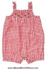 Crazy 8 NWT 1-pc Red WATERMELON SMOCKED GINGHAM DRESS ROMPER OUTFIT 3 6 Months