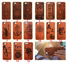 Natural Original Wooden Wood carving hard PC Case Cover for iphone 7 7P 6 6P 5s