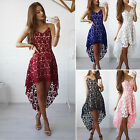Womens Lace Summer Sleeveless Short Mini Dress Evening Cocktail Party Dresses Y
