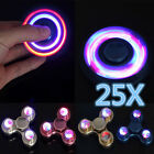 25X Flash Light LED  Alloy Tri-Spinner Hand Spinner Fidget Desk Focus Toy EDC