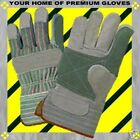 S-M-L-XL-Leather REINFORCED PALM FINGER Starched CUFF WORK Shop Garden Gloves