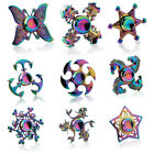 Fidget Finger Spinner Hand Focus Spin  EDC Bearing Stress Toys Metal Rainbow UK