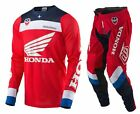 NEW 2017 TROY LEE DESIGNS SE AIR CORSA HONDA GEAR COMBO RED/WHITE/BLUE SIZE 34/M