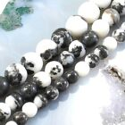 Wholesale Smooth natural Zebra Jasper Round Beads Spacer 6mm 8mm 10mm for DIY