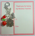 Thank You Gift for Teacher Childminder 2017 Bag Charm Part completed Gift Card