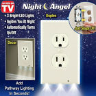 Night Angel Sensor As seen on TV Outlet Coverplate Plug Cover Light Led NEW Lot