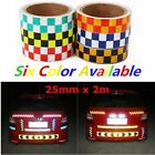 2m*25mm High Intensity Safety Reflective Tape Chequer Car Sticker Self-Adhesive