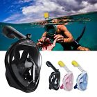 Breathable Full Face Mask Surface Diving Snorkel Scuba for GoPro Swimming Tools