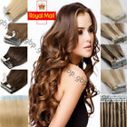 Seamless TAPE IN Remy Human Hair Extensions Real Long Skin Weft THICK Brown A765