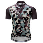 New Riding Short Sleeve Racing Uniform 3 Pockets Jersey Shirt Outfits Camouflage