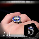punk visual rock battlefront UFO Protoss alien titanium steel ring【J1A653】