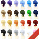 30cm New Fashion Party Short Cosplay MSN Wig 24colors Short Base Wig